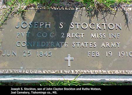 Joseph Stockton Headstone