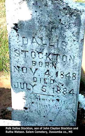 Polk Dallas Stockton's Headstone